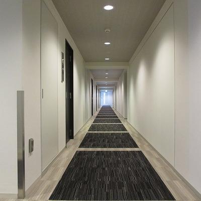 ホテルの様な長い廊下。