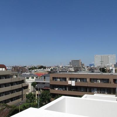 眺望も良いです。 ※写真は5階です