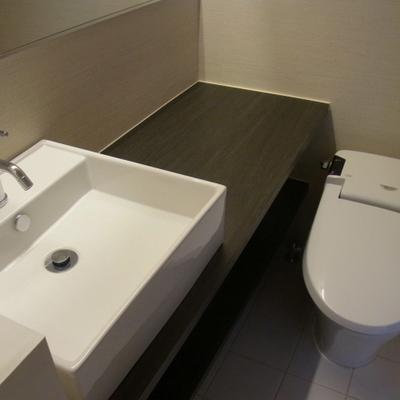 カフェのトイレってこんな感じですよね。