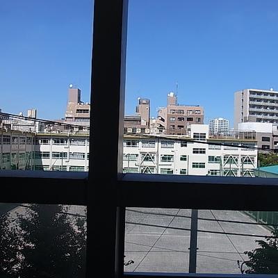 学校の方面の眺望で抜けてます※写真は別部屋です。