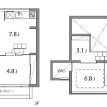 メゾネットタイプの2SDKのお部屋です