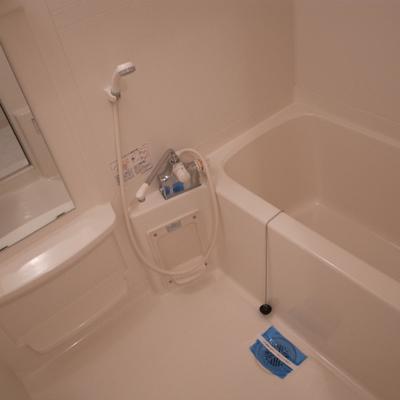 お風呂もシンプル。※写真は別部屋です。