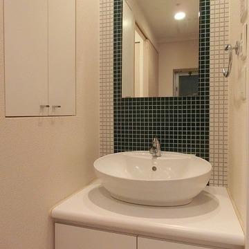 洗面台も可愛い!※写真は近いタイプのお部屋です。