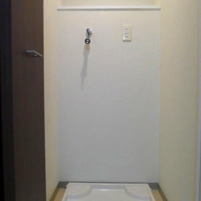 洗濯機置き場も隠せます。※写真は別室