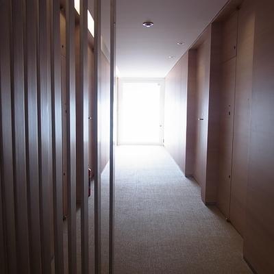 3階の共有スペース。ホテルみたい…。