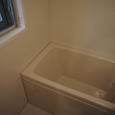 浴槽は深め。