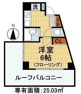 7階広々ルーフバルコニー の間取り