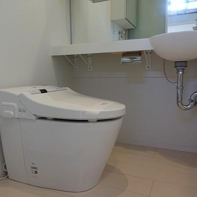 トイレも新しさを感じます。