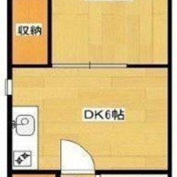 1DKタイプのお部屋です!