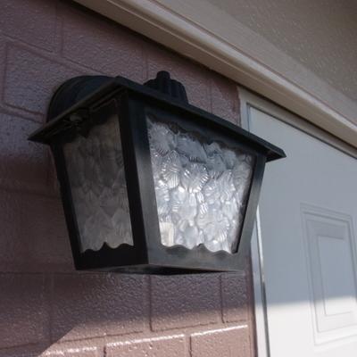 玄関のランプがカワイイです。