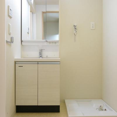 独立洗面台のある脱衣所の風景