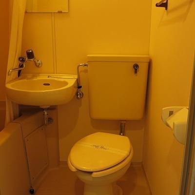 トイレも一緒の空間ですよ。
