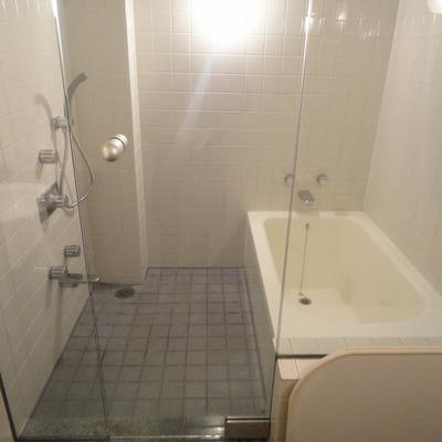 開放的なお風呂と