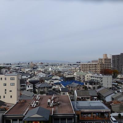 9階からの眺望。抜けてますね。