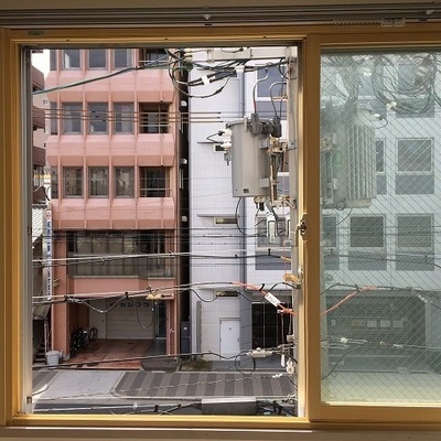 窓からの景色。オフィス!!