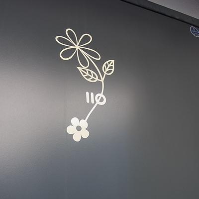 号室表示もデザインされてる。