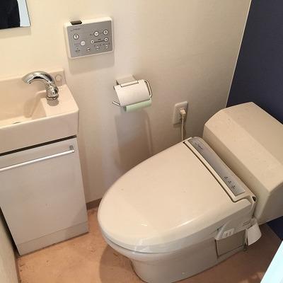 トイレにまで洗面台あり!