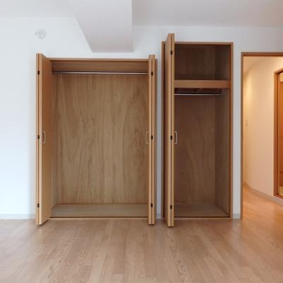 この収納力!洋室にも収納があり、お部屋を広く使えます。