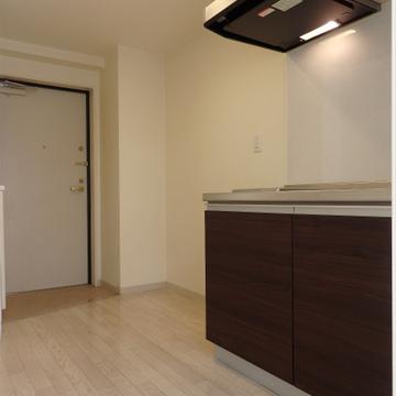 冷蔵庫はキッチンの左側に置くイメージですね。