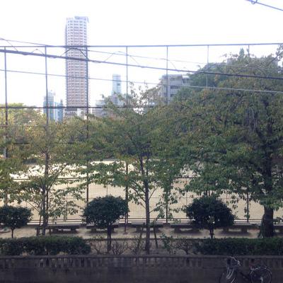 向かいには公園があります。※写真は前回掲載時のものです。