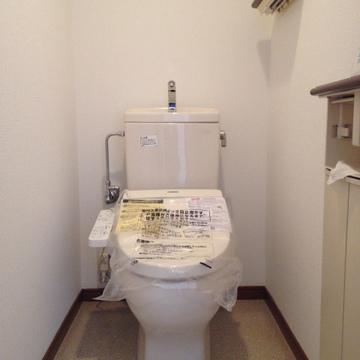 新品同様、とまでは行かないまでもきれいなお手洗いです。