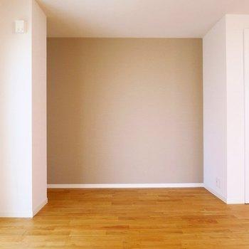 ここのアクセントクロスがお部屋をぐっとオシャレにします。