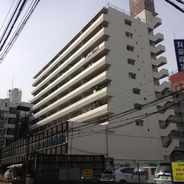 レトロな10階建のマンションです。