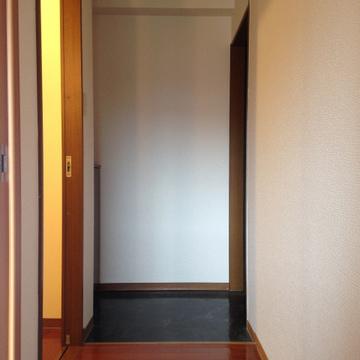 玄関部分。見えにくいですが、シューズボックスもあります。