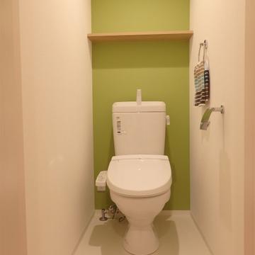 緑のクロスが施されたお手洗い。※写真は前回撮影時のもの
