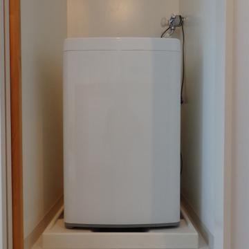 洗濯機は隠しちゃいましょう。