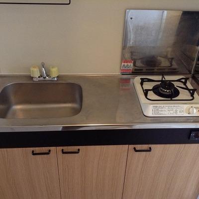 キッチンは既存ですが、綺麗です。※写真は前回募集時のものです