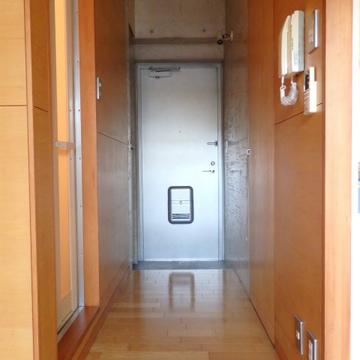 無機質でクールな玄関扉。