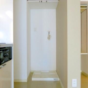 洗濯機置き場はキッチンの横にあり!