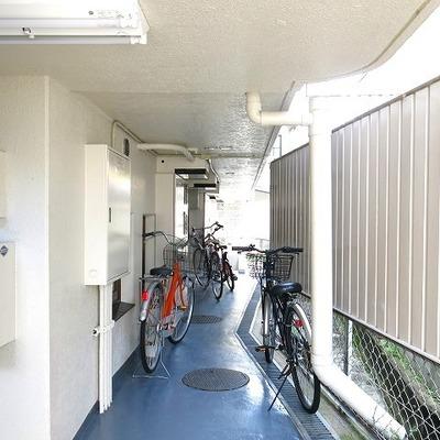 ここに自転車置けるのかな?