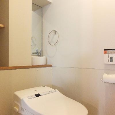 トイレにも手洗いがついています