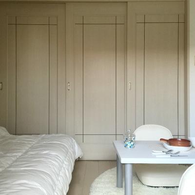 引き戸で寝食を分けれます。