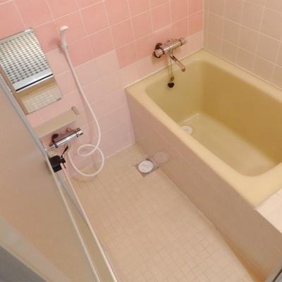 広めのお風呂でゆったり浸かりましょう。