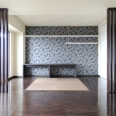 和モダンな琉球畳のお部屋。