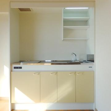 IH1口のみの小さなキッチン。