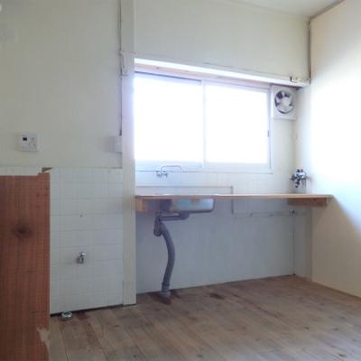 ダイニングキッチンは5.5帖の広さ。