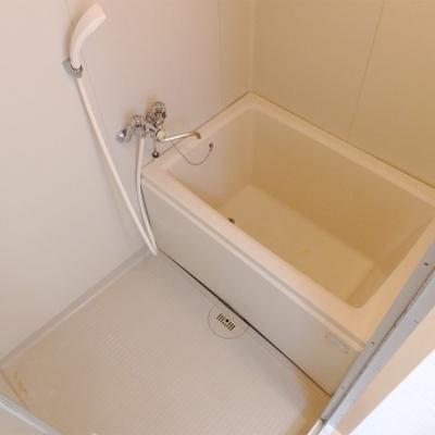 お風呂は手狭ですが、きれいです。