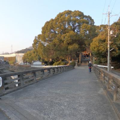 磐手杜神社がすぐそば。緑と水辺のある良い環境です。