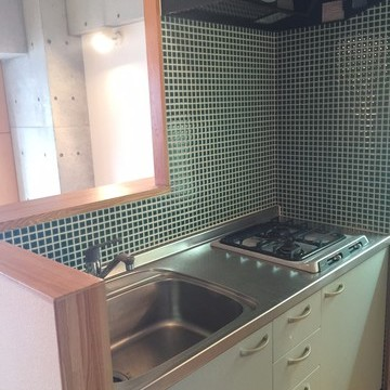 グリーンのキッチン♪