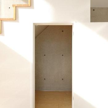 階段下にも収納があります。
