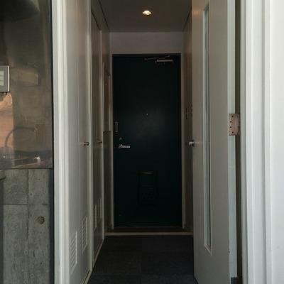 ドアの緑もアクセント