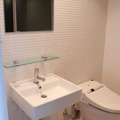 洗面台の形がかっこいいです※写真は別部屋になります。