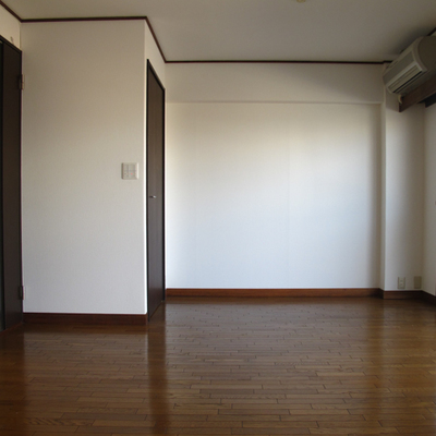 洋室、画像左奥にウォークインクローゼットがあります。