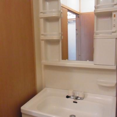 洗面台も広くて洗いやすい。
