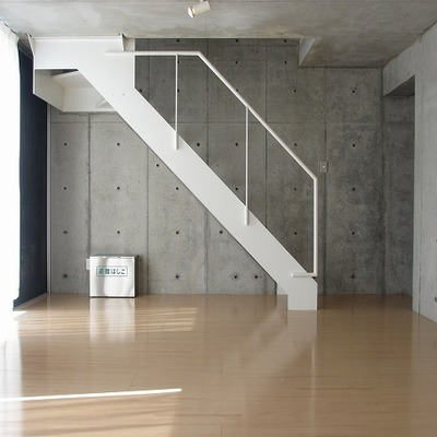 階段のしたのデッドスペースをうまく使いたいところ