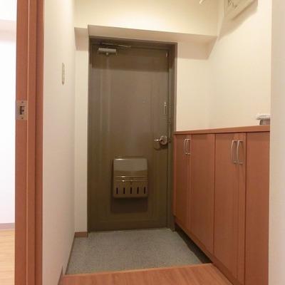 玄関には靴箱スペースあります